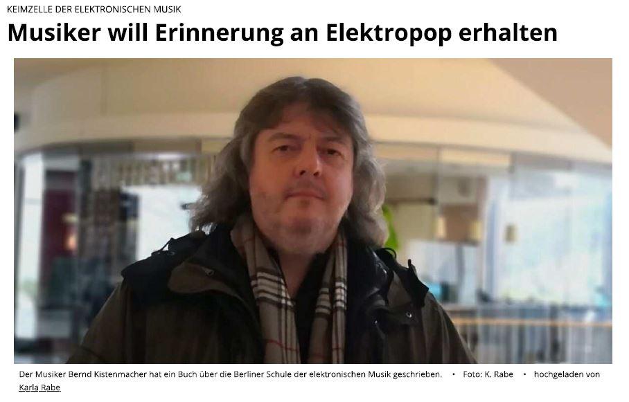 Screenshot des aktuellen Interviews der Berliner Woche mit Bernd Kistenmacher